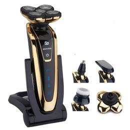 Toptan satış Tıraşlar Orijinal 5D Elektrikli Tıraş Makinesi Islak Kuru Yüz Tıraş Makinesi Şarj Edilebilir Sakal Elektrikli Jilet Erkekler Için Çok Fonksiyonlu Bakım Seti