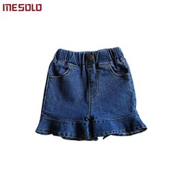 $enCountryForm.capitalKeyWord NZ - good qualityBaby Girls Clothing 2019 Summer Korean Fashion Elastic Ruffled Blue Jeans Package Hip Denim Shorts Toddler for Kids Clothe