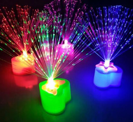 fiber optic night light lamp Canada - Changing LED Fiber Optic Night Light-Up Toy Lamp Battery Powered Small Light Christmas Party Decor Romantic Color