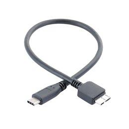 0.3 M / 1 'Evrensel Tip C Mikro USB 3.0 Kablosu HDD Sabit Disk PC Smartphone Için OTG Veri Transferi Hattı Cep Telefonu Adaptörleri