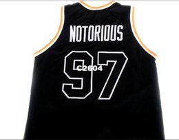 f56248e41bd0 Men  97 Notorious Bad Boy Biggie Smalls New HIGH SCHOOL College jersey Size  S-4XL or custom any name or number