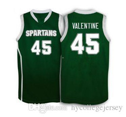 China Cheap Michigan State Spartans #45 Denzel Valentine basketball Jersey , white Green Men's Customize any size number and player name cheap jersey 45 suppliers