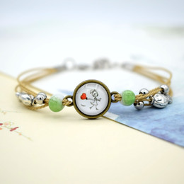 $enCountryForm.capitalKeyWord Australia - Jingdezhen ceramic bracelet retro time gem literary adjustable length new cartoon jewelry scenic commemoration