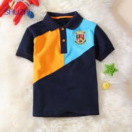 Kids Polo Tops Australia - Shuzhi Boys Polo Shirts Patchwork Kids Tops Boys Shirt Kids T-shirt Lapel Baseball Wear Summer Style Baby Boy Sportswear Tees Y19051003