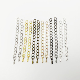 Wholesale 20pcs mm mm Silver Gold Tone Extended Extension Tail Chain Connector For DIY Jewelry Making Findings Bracelet Necklace