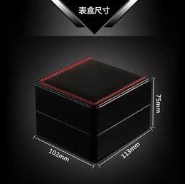 Original stamp online shopping - 2019 luxury original men s watch box original female watch box PU leather custom gift hot stamping box
