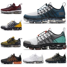 black men running shoes discounted NZ - Discount Cheaper Run Utility Running Shoes Women Men CNY Sanded Purple Triple White Black Burgundy Crush Mens Trainers Sports Sneakers 36-45