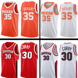 623c332a6d82 Stephen 30 Curry Mens Kevin 35 Durant jersey NCAA University Red White  College Basketball Wears Cheap wholesale