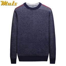 Black Jumper Sweater Australia - MuLS 2019 Birdseye Knit Sweater Men Pullover Colored Wool Spring Sweater Jumpers Autumn Male Cotton knitwear Blue Black Red Grey