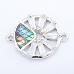 $enCountryForm.capitalKeyWord Australia - Singreal Abalone Shell Micro Pave Evil Eye Charms Bracelet necklace Choker Pendant connectors for women DIY Jewelry making