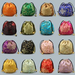$enCountryForm.capitalKeyWord UK - Silk bags Chinese style Drawstring pocket Wedding Party Candy Bag Jewelry Packing bag Silk Brocade gift Pouch Drawstring Coin Purse CLS214
