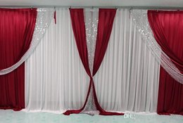 backdrop party Australia - 3m high*6m wide(10ft*20ft) wedding backdrop with sequins swags backcloth Party Curtain Stage curtain Background customized high quality
