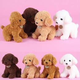 EastEr gifts for dogs online shopping - Bravo Christmas gift Wholesales Super cute curly Teddy dog Plush Toys Doll Decorate Plush Soft Stuffed Animals Toys for child Kids