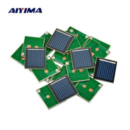 sunpower cells Australia - Batteries Cells, Panel AIYIMA 20Pcs 23x20MM Solar Panels 0.5V 80MA Polycrystalline Silicon Sun Solar Cell Diy Sunpower Battery Charger