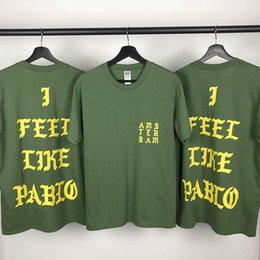 a0d006ca5 New i feel like pablo Mens Designer T Shirts Kanye West Box Logo Hip Hop  Designer Shirt Mens Womens Short Sleeve