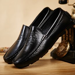 $enCountryForm.capitalKeyWord Australia - Men's Loafers Flats For Men Spring Summer Low-top Slip-on Driving Doug Shoes Cow Genuine Leather Light Handmade Flat Big Size 38-47
