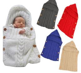Crochet Blankets For Babies Australia - Baby Sleeping Bags Newborn Baby Children Wrap Warm Wool Crochet Knitted Blankets Infant Bebe Cute Swaddling Blanket For Bedding