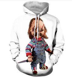 Wholesale guys dolls for sale – custom New Fashion Sweatshirt Men Women d Casual Hoodies Movie Chucky Scarred Good Guy Doll Unisex Harajuku Style Pullover Hoodies USA0321