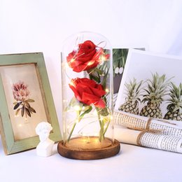 Wholesale preserve flowers online – design Preserved Fresh Flower Roses Glass Eternal Flower Festival Valentine S Day Party Immortality Rose Glass Cover Floral Decor
