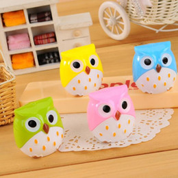 $enCountryForm.capitalKeyWord NZ - cute lovely owl pencil sharpeners cartoons automatic plastic mini pencil cutter knife pencil sharpeners for children gifts korean stationery