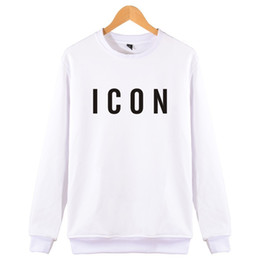 Wholesale skull hoodies men online – oversize 2017 Hot Sale Fashion Brand Icon Hoodies Sweatshirts Mens Funny Casual Clothes Print Icon Pattern Hip Hop capless Sweatshirt xl C18122901