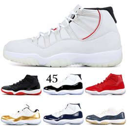 d7625939c68c59 Platinum Tint 11s Mens Basketball Shoes Orange Trance Concord Snakeskin Cap  and Gown Concord Barons Bred 11 Sport Sneakers 5.5-13