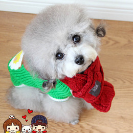 $enCountryForm.capitalKeyWord NZ - Warm Dog Scarf Winter Christmas Knitting Scarf For Small Medium Dogs Puppy Bow Tie Pet Products Dog Cat Accessories Dogs Shawl
