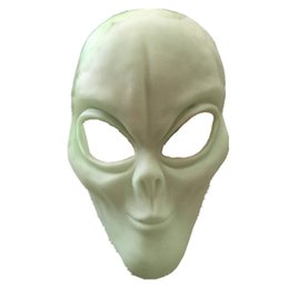 Discount aliens props - Alien Latex Masks Halloween Mask glow in the dark Props Realistic Terror prank Scary Demon Vampire neon party horror Flu