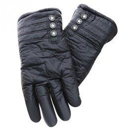 Leather Gloves For Men Australia - Men PU Leather Faux Fur Lined Gloves Winter Warm Gloves for Driving Cycling