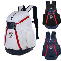 Discount backpack New USA national team Backpack The Olympic Mens Womens Designer Bags Teenager Black White Blue Outdoor Basketball Backpack 3 Colour