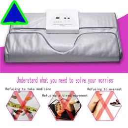 heated slimming blankets Canada - New model 2 Zone FIR Sauna FAR INFRARED BODY SLIMMING SAUNA BLANKET heating therapy Slim Bag SPA WEIGHT LOSS body detox machine