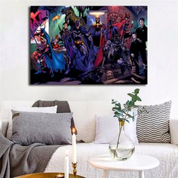 Hero Paintings Australia - Super Heroes Harley's Holiday Batman Nordic Marvel Movie Art Canvas Poster Painting Wall Picture Print For Home Bedroom Decoration