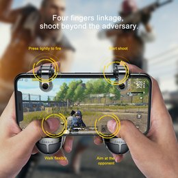 joypad wireless game controller iphone NZ - Baseus Joysticks Joypad For PUBG Mobile Game Trigger Fire Button Gamepad For iPhone Xiaomi Android Phone L1R1 Shooter Controller