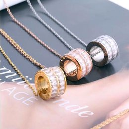 necklaces pendants Australia - 2019 Designer Brand Necklace Fashion Luxury Double row drill Pendant Necklaces Titanium Steel Gold Plated Necklace For Women