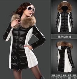 Outdoor Parka Women NZ - 2019 new arrival jackets and coats women Black and white jackets long Parka Young lady Fashion style Outdoor warm coats