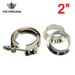 """V Clamps Australia - PQY - 2 inch V-Band QUICK RELEASE CLAMP and COLLAR SET 51mm(2"""") STAINLESS STEEL Vband Kit PQY6282"""