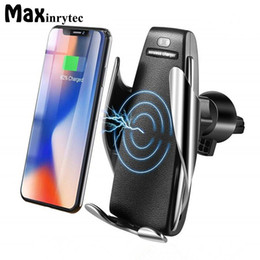 Wholesale Automatic Sensor Car Wireless Charger For iPhone Xs Max Xr X Samsung S10 S9 Intelligent Infrared Fast Wirless Charging Phone Holder s5 hot