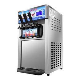 $enCountryForm.capitalKeyWord Australia - Ice cream machine three-color commercial desktop mini intelligent automatic ice cream machine stainless steel cone machine