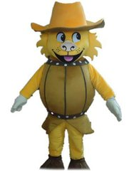 $enCountryForm.capitalKeyWord Australia - 2018 High quality hot a beer lion mascot costume with yellow hat for adult to wear