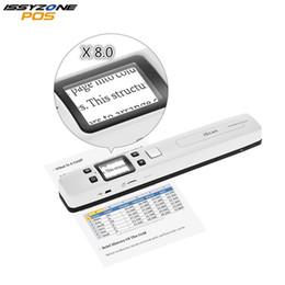 portable document book scanner 2019 - IssyzonePOS Portable Document Scanner Mini Handheld A4 Image JPG PDF Mobile Scanner WIFI with Micro SD TF Card for Book