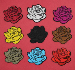 9af367454e7 Embroidered Patches Hats Australia - 2019 Rose Embroidered Patches Sew on  Multi Colors DIY Clothing Stripes