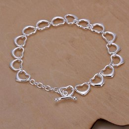 small chain links NZ - Hot sale best gift 925 silver Full Small Love Bracelet DFMCH162,brand new fashion 925 sterling silver plated Chain link bracelets