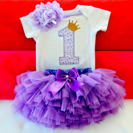 $enCountryForm.capitalKeyWord NZ - Little Girls Summer Dress Cute Newborn Baby Girl Clothes 1st Birthday Baby Bodysuit Romper+Ruffles Tutu Skirt +Headband Outfits Y18120801