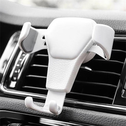 Phone stand online shopping - 2019 New Gravity Car Holder For Phone in Car Air Vent Clip Mount No Magnetic Mobile Phone Holder Cell Stand Support For smartphones