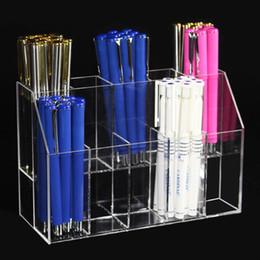 $enCountryForm.capitalKeyWord Australia - New Clear Acrylic Makeup Organizer Lipstick Holder Case Eyebrow Pencil Rack Makeup Brushes Insert Box Desktop Storage