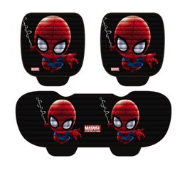 $enCountryForm.capitalKeyWord NZ - Movie Captain American Spiderman cute Cat Seat Mat Toy For Cars Vehicle Cartoon Decoration Best for Christmas Birthday Gift