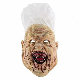 mask horror zombie Australia - Latex Costume Party Full Head Cosplay Mask Halloween Bloody Scary Horror Mask Adult Zombie Monster Vampire Mask Masquerade Props SH190922