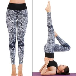 ladies yoga pants Australia - Lady Yoga leggings Hip Up Skinny Elastic Yoga Pants Floral Slim Stretch Pencil Pants Running Sportswear Women S-XL