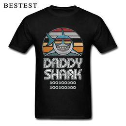 $enCountryForm.capitalKeyWord Australia - Fathers Day T Shirt Men Letter Tops Daddy Shark T-Shirt Doo Gift Tee Shirts Retro Cartoon Plus Size Graphic TShirt Cotton Funny
