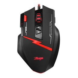zelotes mice UK - Mouse Raton USB Zelotes Programmable Vertical Wired Game LED Gaming Mice Professional Mice For PC Laptop computer mouse 18Nov26